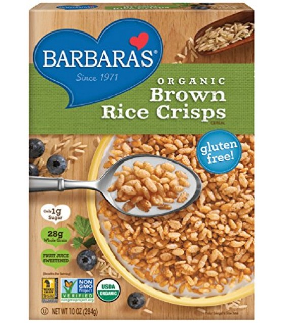 [Barbara`S Bakery] Cereal Brown rice Crisps, FJS  At least 95% Organic