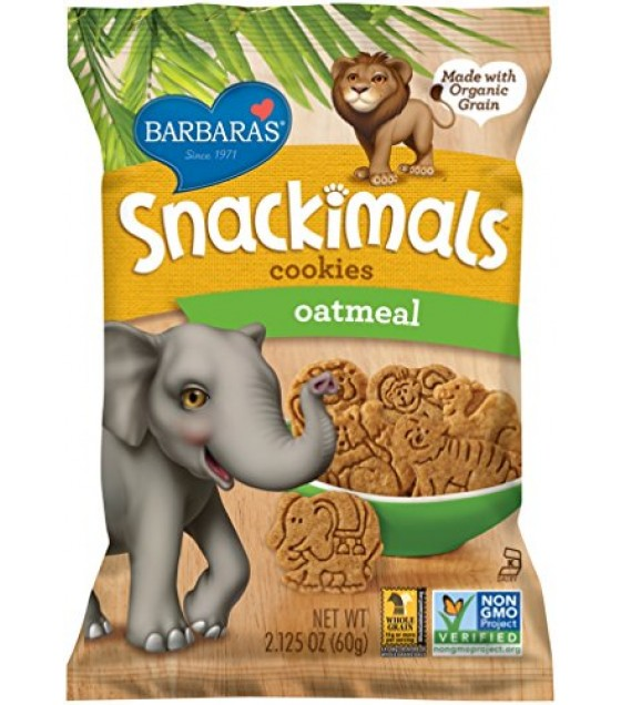 [Barbara`S Bakery] Snackimals Animal Cookies Oatmeal, Wheat Free  At least 70% Organic