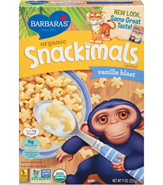 [Barbara`S Bakery] Snackimals Breakfast Cereal Vanilla  At least 95% Organic