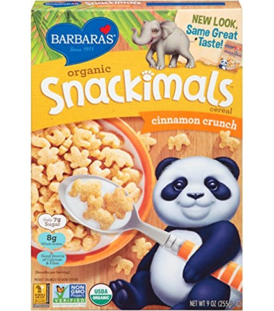 [Barbara`S Bakery] Snackimals Breakfast Cereal Cinnamon  At least 95% Organic