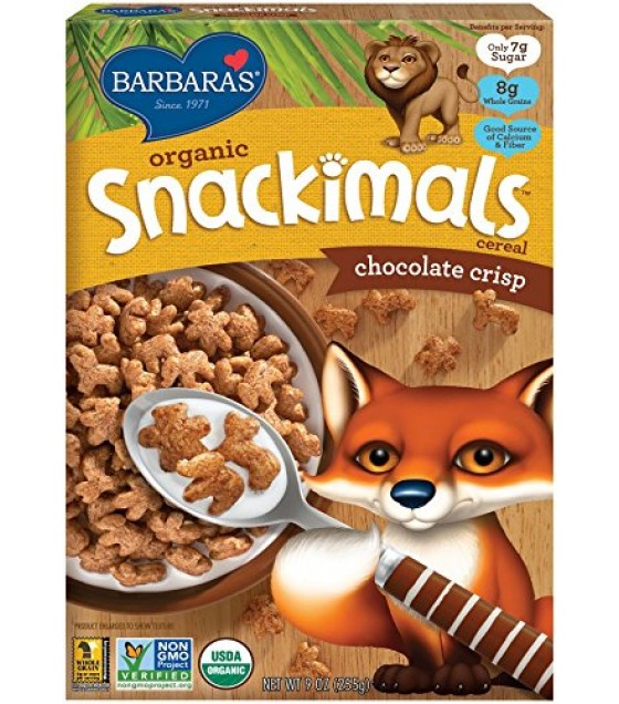 [Barbara`S Bakery] Snackimals Breakfast Cereal Chocolate Crisp  At least 95% Organic