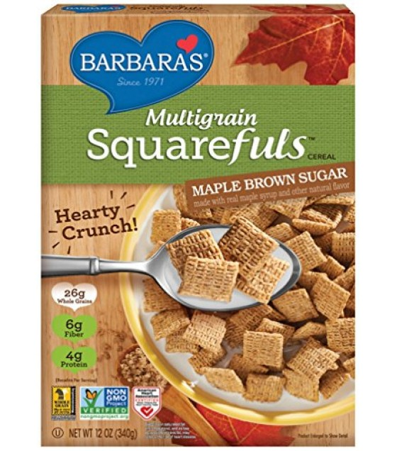 [Barbara`S Bakery] Cereal Squarefuls Maple Brown Sugar