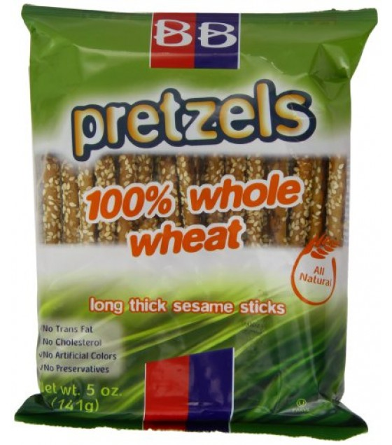 [Beigel Beigel] Kosher Snacks Pretzel, Whole Wheat Long Stk