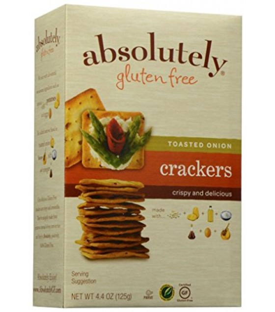 [Absolutely Gluten Free]  Crackers, Toasted Onion