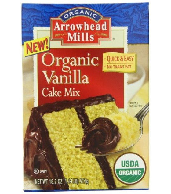 [Arrowhead Mills] Mixes Cake, Vanilla  At least 95% Organic