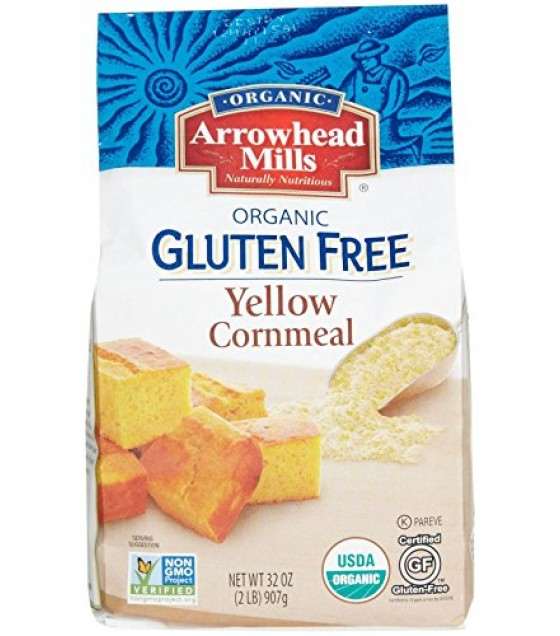 [Arrowhead Mills] Grains Cornmeal, Yellow  At least 95% Organic