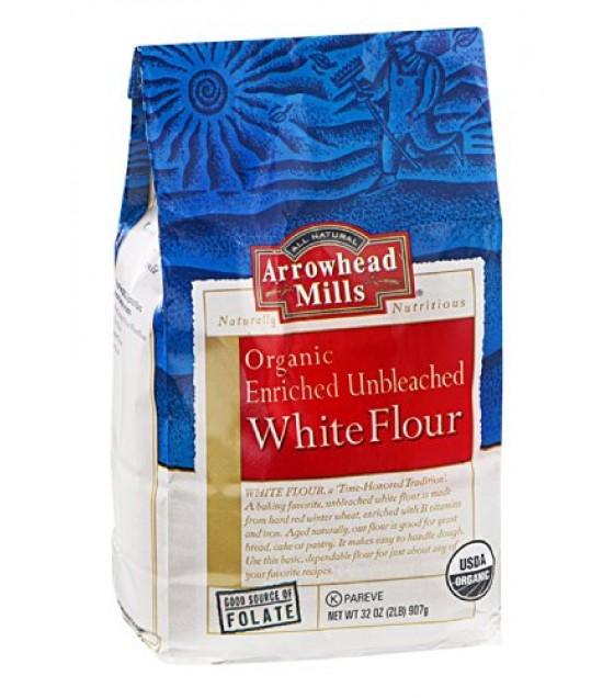 [Arrowhead Mills] Flours White, Unbleached  At least 95% Organic