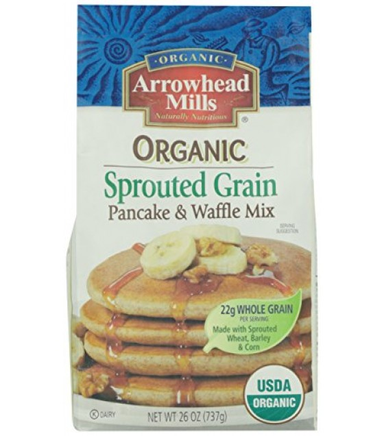 [Arrowhead Mills] Mixes Pancake & Waffle, Sprouted  At least 95% Organic