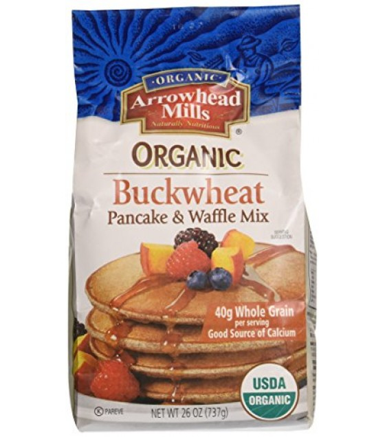 [Arrowhead Mills] Mixes Pancake & Waffle, Buckwheat  At least 95% Organic