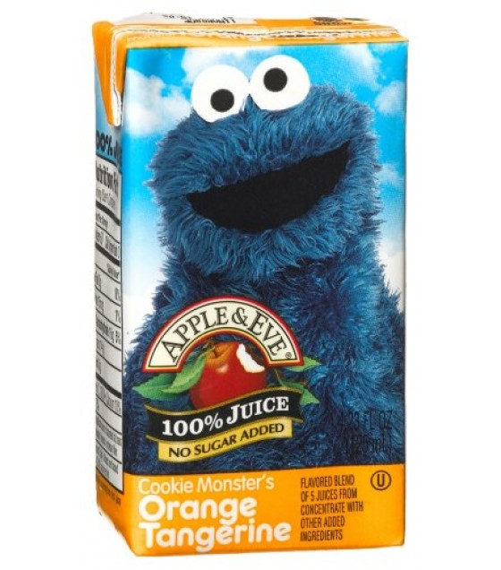 [Apple & Eve] Sesame Street Juices Cookie Monster`s Orange Tangerine