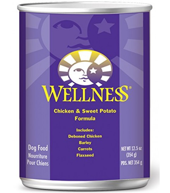 [Wellness] Canned Dog Food Super 5 Mix, Chicken
