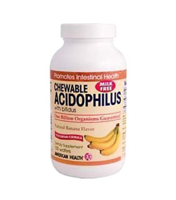 [American Health] Natural Health Aids Acidophilus, Chewable, Banana
