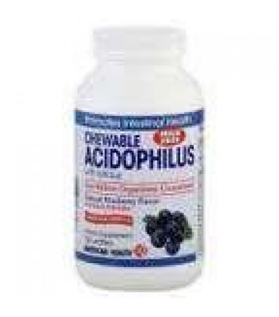 [American Health] Natural Health Aids Acidophilus, Chewable, Blueberry