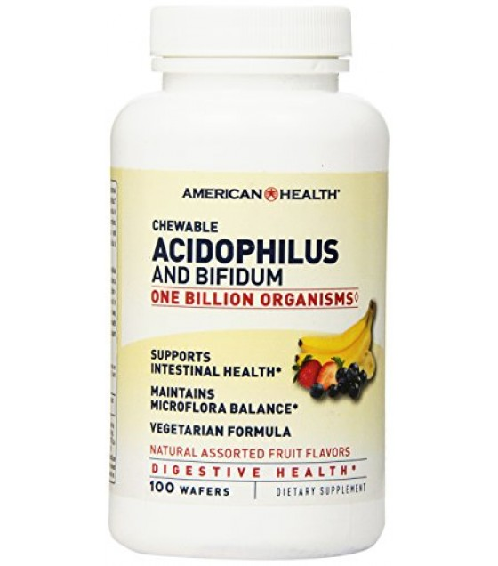 [American Health] Natural Health Aids Acidophilus, Asst. Nat. Fruit