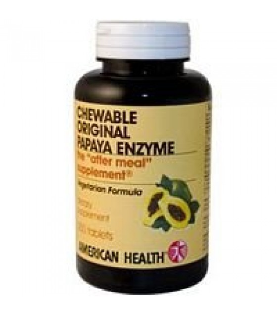 [American Health] Chewable Enzymes Papaya, Original