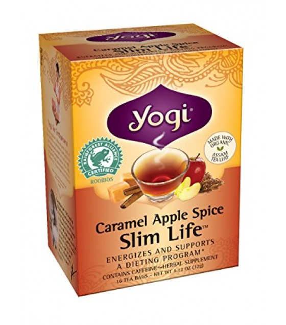 [Yogi Teas] Beverage Teas Caramel Apple Spice Snack  At least 70% Organic