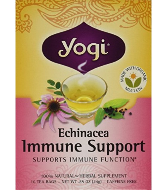 [Yogi Teas] Tea For Your Body Echinacea Immune Support  At least 70% Organic