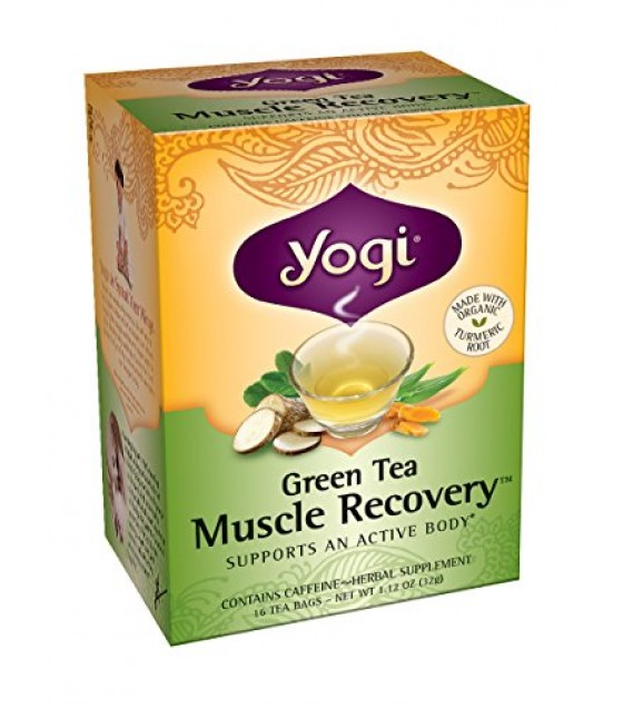 [Yogi Teas] Green Tea For Your Body Green Tea, Muscle Recovery  At least 70% Organic