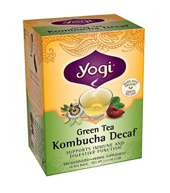 [Yogi Teas] Green Tea For Your Body Green Tea, Decaf w/Kombucha  At least 70% Organic
