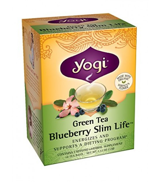 [Yogi Teas] Green Tea For Your Body Blueberry Slim Life  At least 70% Organic