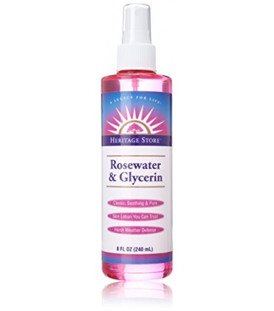 [Heritage Store, Inc.] Flower Waters Rosewater & Glycerin w/Atomizer