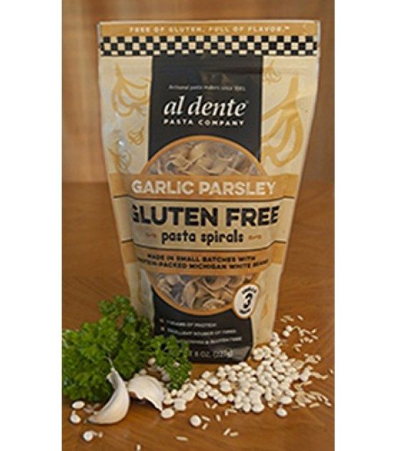 [Al Dente] Pasta Spirals, Gluten Free Garlic Parsley