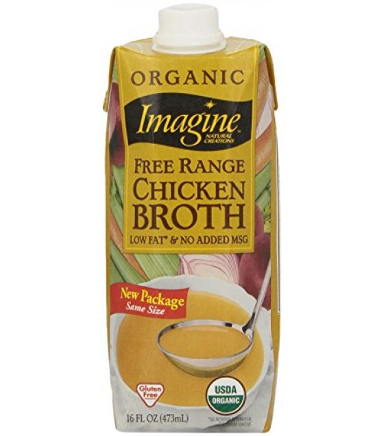 [Imagine Foods] Natural Organic Broths Free Range Chicken  At least 95% Organic