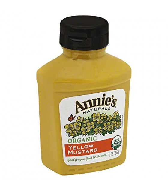 [Annie`S Naturals] Condiments Mustard, Yellow  At least 95% Organic