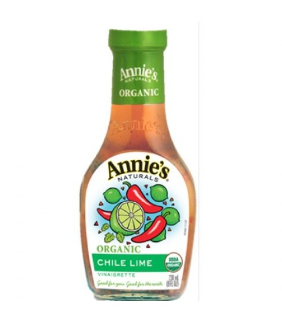 [Annie`S Naturals] Vinaigrettes - Made with Extra-Virgin Olive Oil Chile Lime  At least 95% Organic