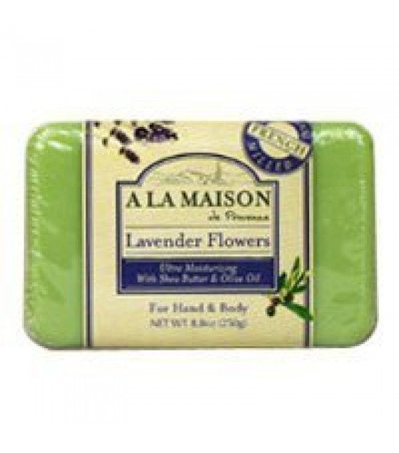 [A La Maison] BAR SOAP,LAVENDER FLOWERS