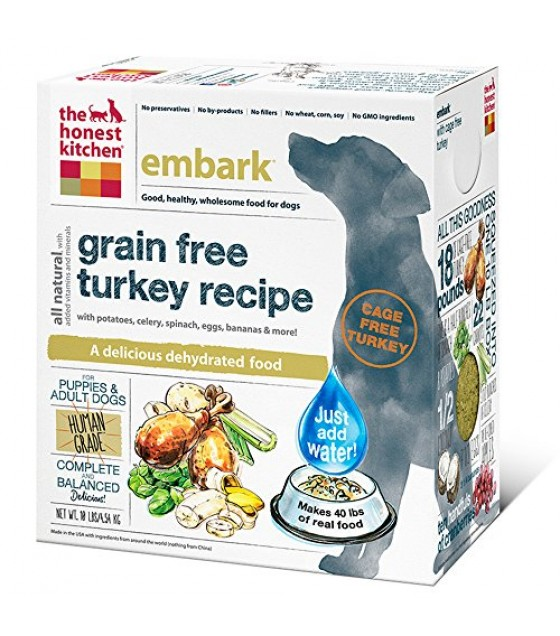 [Honest Kitchen] Natural Dehydrated Whole Food For Dogs Embark, Turkey & Grain Free