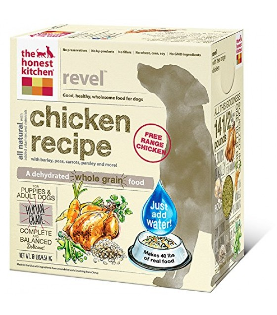 [Honest Kitchen] Natural Dehydrated Whole Food For Dogs REVEL Chicken & Whole Grain