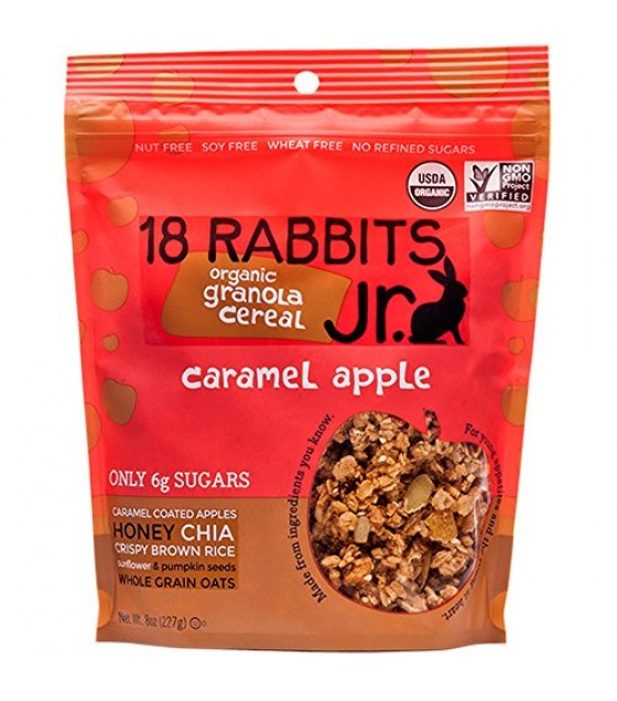 [18 Rabbits] Granolas Jr. Caramel Apple  At least 95% Organic