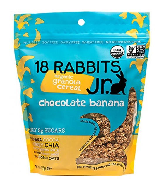 [18 Rabbits] Granolas Jr. Chocolate Banana  At least 95% Organic