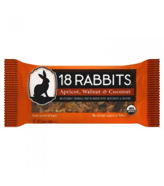 [18 Rabbits] Granola Bars Apricot Walnut & Coconut  At least 95% Organic
