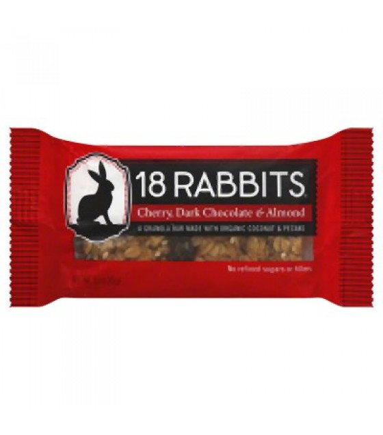 [18 Rabbits] Granola Bars Cherry Dark Chocolate & Almond  At least 70% Organic