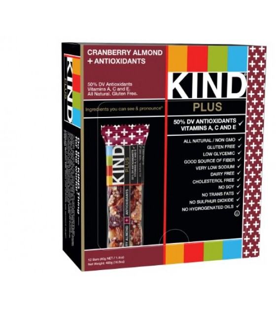 [Kind] Kind Plus Fruit & Nut Nutrition Bars Cranberry & Almond