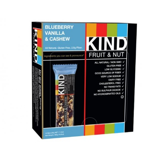 [Kind] Kind Fruit & Nut Bars Blueberry Vanilla and Cashew