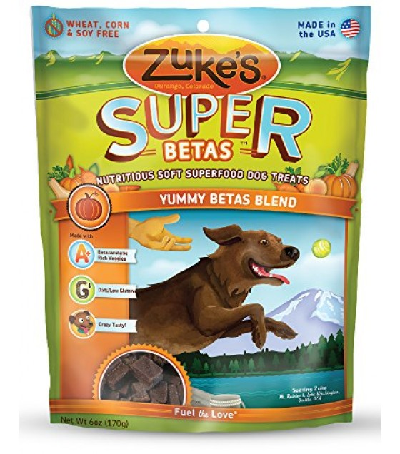 [Zuke`S] Soft Superfood Dog Treats Yummy Betas Blend, Supers