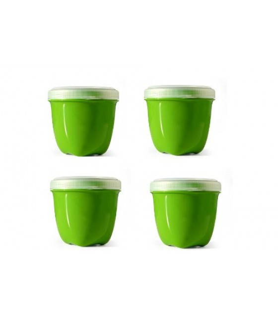 [Preserve] Kitchenware Food Storage, 4 Pack (Mini) Green