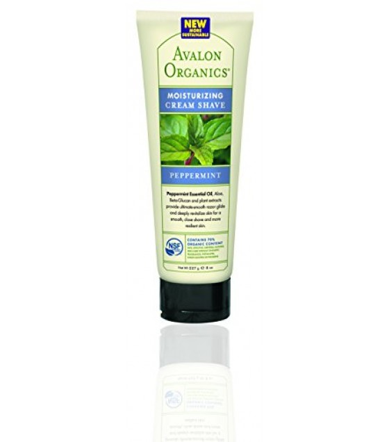 [Avalon Organics] Therapeutic Cream Shave Peppermint