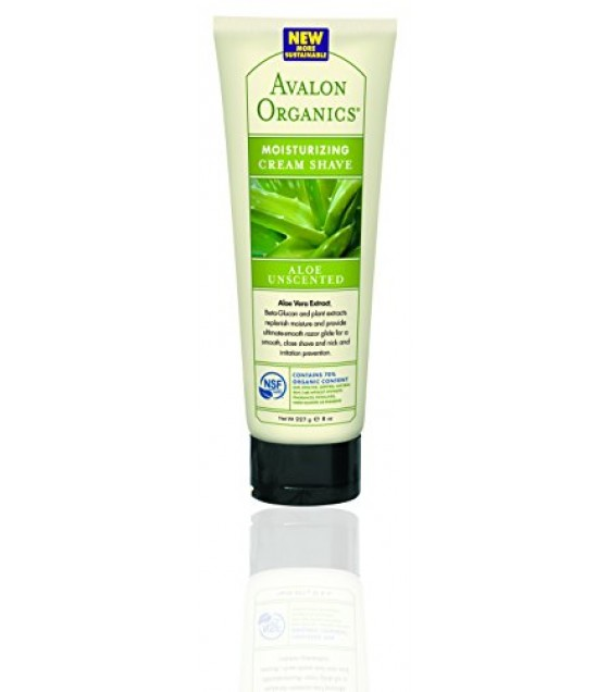 [Avalon Organics] Therapeutic Cream Shave Aloe Unscented