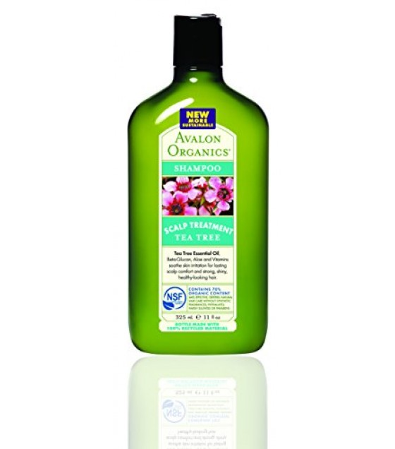 [Avalon Organics] Therapeutic Hair Care Shampoo, Tea Tree Scalp Treatment