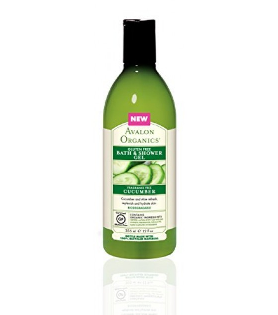 [Avalon Organics] Gluten Free Bath & Shower Gel Cucumber, Frag. Free