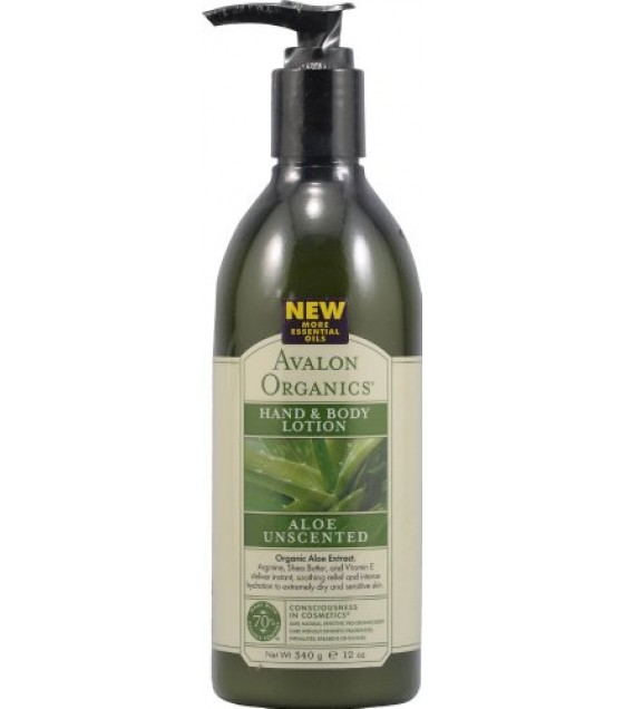 [Avalon Organics] Therapeutic Hand & Body Lotion Aloe, Unscented