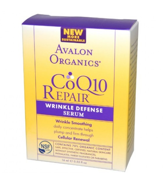 [Avalon Organics] Wrinkle Therapy with CoQ10 & Rosehip Facial Serum