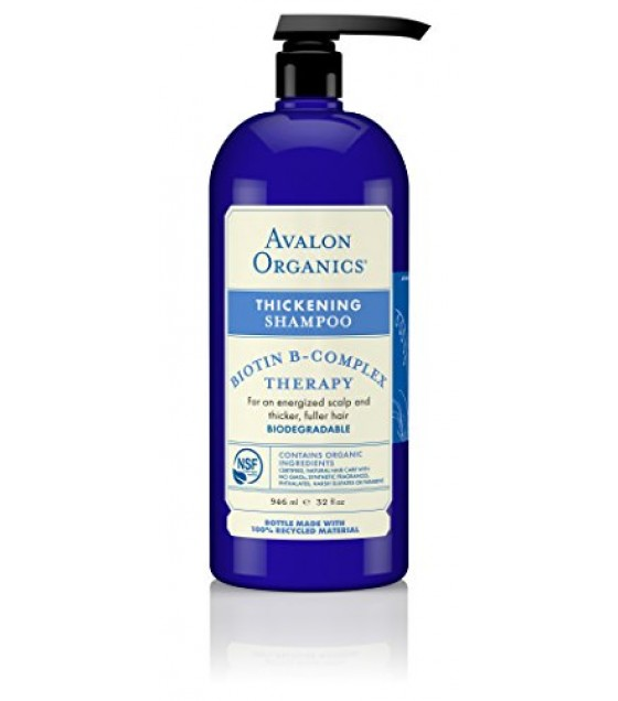 [Avalon Organics] Value Size Shampoo, Biotin B Complex Thickening  At least 70% Organic