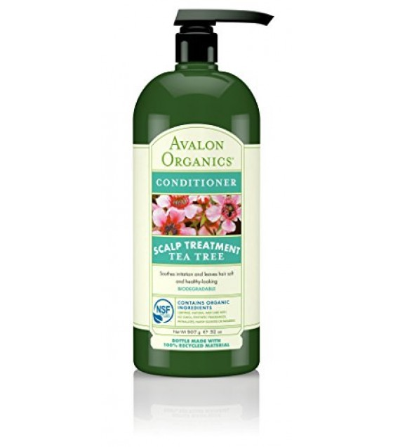 [Avalon Organics] Value Size Conditoner, Tea Tree Scalp Trtmnt  At least 70% Organic