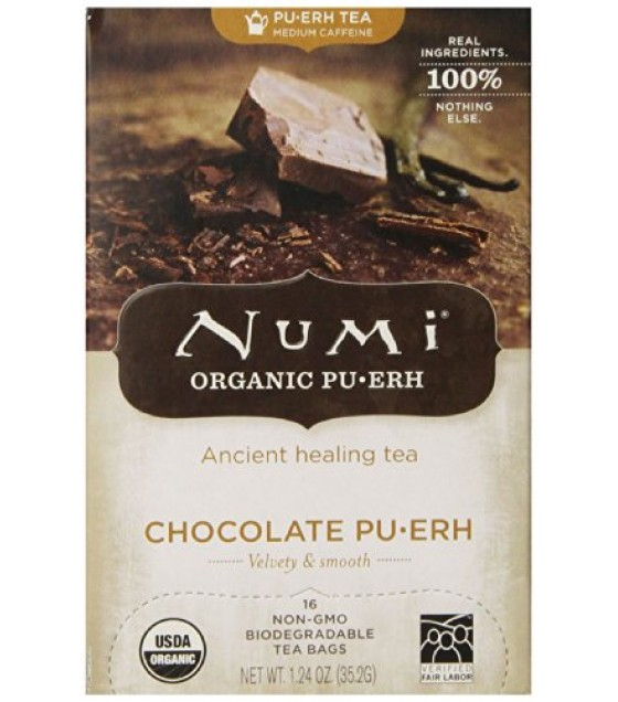 [Numi Tea] Puerh Teas Chocolate, Black Tea Blend  At least 95% Organic