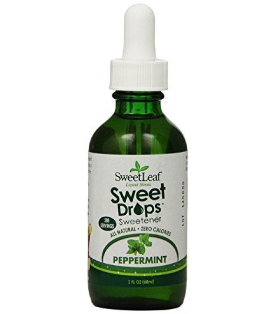 [Sweet Leaf] Liquid Stevia Sweetner, Sweet Drops SteviaClear Peppermint